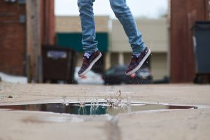 40 things to do – 5: Jump in puddles